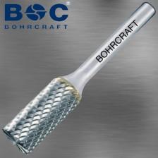 BOHRCRAFT VHM Frässtift Schaft 6,0mm ZYAS Zylinder Kreuzverzahnung Z3-X grob