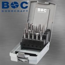 BOHRCRAFT WRC Hartmetall-Frässtift Alu-Verzahnung Z-ALU Form C Schaft 3mm