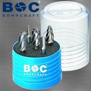 BOHRCRAFT 10,0 mm HM-Frässtifte mit Kreuzverzahnung, Satz, 5-teilig